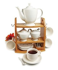 Another great find on #zulily! Chantilly Collection Tea Set #zulilyfinds