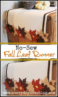 No Sew Fall Leaf Runner