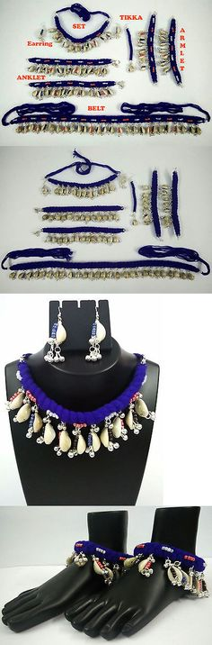 Other Asian E Indian Jewelry 11313: Afghan Kuchi Ethnic Tribal Belly Dance Cowrie Belt Set Armlet Anklet Lot Gypsy BUY IT NOW ONLY: $35.99