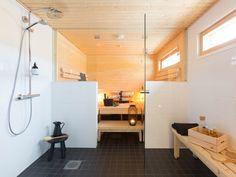 Tyylikäs ja tilava BoKlok-pihasauna Vantaan Satupihassa Ikea, Interior, Gate Valve, Ikea Co, Indoor, Interiors