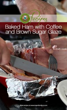 Celebrating National Spiral Ham Day with a killer recipe of the week. http://www.rogersfamilyco.com/index.php/recipe-week-coffee-brown-sugar-glazed-ham/