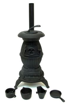 Old Mountain Cast Iron Stove Pot-Bellied