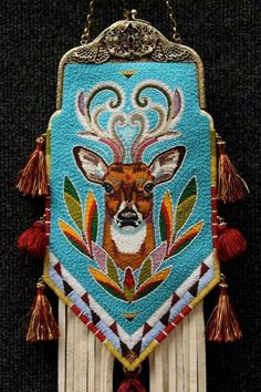 A Beaded Purse Jamie Okuma's mother made. Now we know where she gets her incredible talent from!