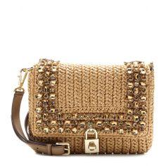 Dolce & Gabbana - Dolce embellished-raffia shoulder bag - mytheresa.com GmbH