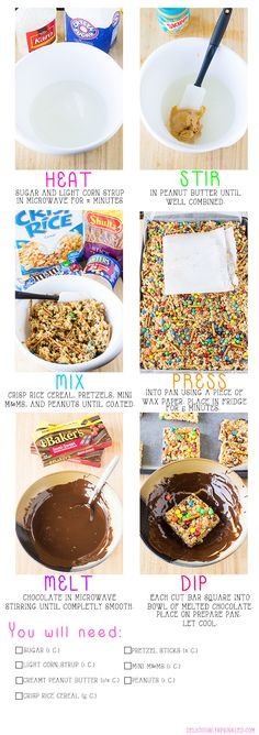 Trail Mix Peanut Butter Bars - Deliciously Sprinkled
