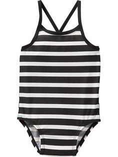 Shop toddler girl swimwear from Old Navy for lots of sweet styles, colors, and patterns. Toddler girls swimwear are summer must haves that are durably made. Baby Swimsuit, Striped Swimsuit, Kids Swimwear, Swimsuits, Baby Girl Dresses, Girl Outfits, Kids Suits, Baby Swimming, Baby Kids Clothes