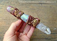 Quartz Wand Ruby Lepidolite Healing by EnchantedEvolution11