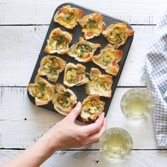 Mini Smoked Salmon Quiches made with filo pastry by Tori Wesszer from Fraiche Nutrition