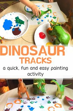 toy activities Reinforce the letter D with this fun activity using dinosaur tracks! Toddlers and preschoolers will love stomping the dinosaurs across the paper while making the letter D sound. Toddler Learning Activities, Preschool Lessons, Infant Activities, Toddler Painting Activities, Vocabulary Activities, Activities With Toddlers, Art Activities, Toddler Art, Toddler Preschool