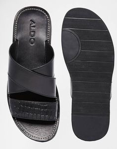 Mens Boots Fashion, Sneakers Fashion, Fashion Shoes, Aldo Sandals, Men Sandals, Leather Slippers For Men, Backless Loafers, Creative Shoes, Male Fashion Trends