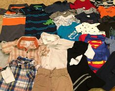 Lot of 25 Items Boys Baby Clothes NB 0 3 3 mos Hurley FAO Old Navy Carters | eBay
