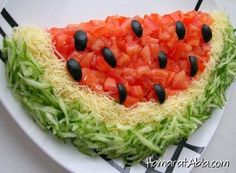 Would you like to surprise your guests by making pleasant salad presentations . Salad Design, Food Design, Cute Food, Good Food, Yummy Food, Appetizer Recipes, Salad Recipes, Appetizer Salads, Salad Presentation