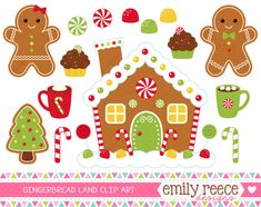 free gingerbread house printables - Google Search                                                                                                                                                                                 More