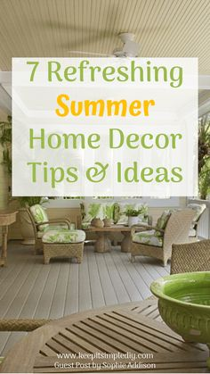 Need to add some freshness to your home this summer? With these easy breezy summer home décor ideas, you can transform any living space into a summertime residence. The warm summer days and breezy nights are a perfect time to add cool tones and exotic décor to your living space. Save the dark colors …