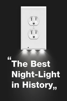 """The SnapPower Guidelight is """"The Best Night-Light in History"""" - The Family Handyman Magazine  Sleek modern design, costs only .10/year to operate and leaves both of your outlets free to use. No wiring or batteries needed!"""