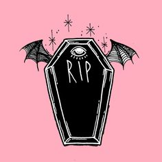 Creepy Coffins Art Print by Pastel Goth Art, Pastel Grunge, Kitsch, Dibujos Dark, Howleen Wolf, Arte Horror, Creepy Cute, Dark Art, Cute Art
