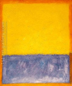 Yellow, Blue, and Orange by Mark Rothko (inspired by)