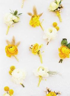 All these REVEL boutonnieres are gorgeous shape & style! If only they were in our colors... But LOVE them otherwise!