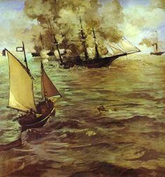 Édouard Manet  The Battle Of The Kearsarge And The Alabama    1884