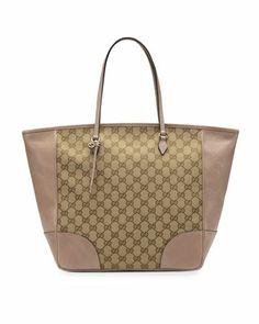 Bree Original GG Canvas Top-Handle Bag, Tan/Nude by Gucci at Neiman Marcus.