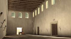 Rendering of a Roman equites drill hall by L! Halle, Museum, Shooting Range, Limes, Prehistory, Roman Empire, Byzantine, Drill, Medieval