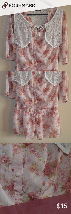Two-piece Floral Shirt and Vest Excellent used condition. No flaws. Japanese brand. Fits like a small/medium. Mouth valley Tops