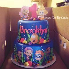 Bubble guppies cake! Facebook.com/SugarOnTopCakes  Sugarontopcakesandsweets.com
