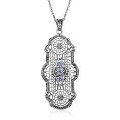 Wholesale Round Zircon Vintage Long Pendant Fashion Women Manufacture Pierced Victoria 925 Sterling Silver halloween Jewelry