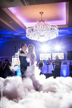 Dancing on the Cloud effect is a huge hit among our brides and grooms for their first dance.