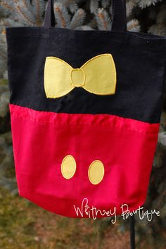 Mickey Mouse Tote Bag by WhitneyBoutique on Etsy. , via Etsy.