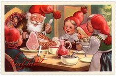 Gnomes, Norway, Holiday Cards, Christmas Postcards, Painting, Dahl, Scandinavian, Artists, Costumes