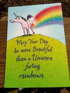 unicorn farting rainbows...