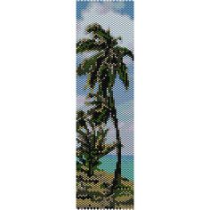 Tropical Beach Peyote Bead Pattern, Bracelet Cuff, Bookmark,Seed... ($2.95) ❤ liked on Polyvore featuring jewelry, bracelets, beaded jewelry, beach jewelry, bead jewellery, beaded bangles and seed bead jewelry