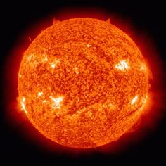 Soleil orange/rouge