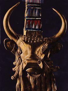 allmesopotamia:  The bull on the Lyre of Ur!
