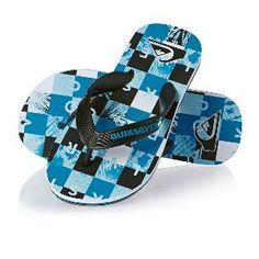 Chanclas Quiksilver Molokai Check Boy - Black Blue White  fashion  moda   niños  circulogpr 730a9e421e1