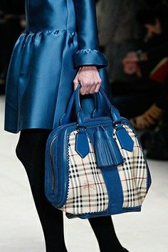 Gorgeous blue Burberry | Handbag Obsessed, #gifts #christmas #shopping itunes.apple.com/... find more women fashion on www.misspool.com