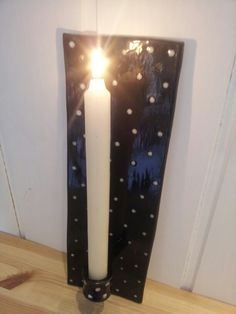 Vegglysestake :) Candle Sconces, Candle Holders, Wall Lights, Candles, Lighting, Home Decor, Candlesticks, Homemade Home Decor, Appliques