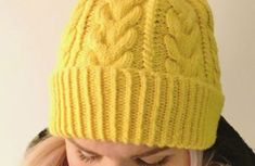 The Cushy beanie – Nurjia silmukoita Knitted Hats, Winter Hats, Beanie, Diy Crafts, Knitting, Yellow, Fashion, Moda, Tricot