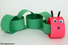 Simple caterpillar craft for kids! A fun book inpsired craft for preschoolers to do this spring!
