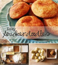 easy homemade snickerdoodles recipe |  I baked them at 350 for 7 minutes.