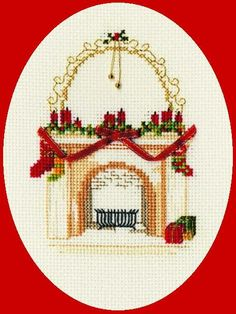 This beautiful Christmas Fireplace cross stitch kit makes a wonderful Christmas card, and it's a great alternative to other greetings cards.Containe...