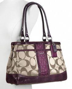 I want this Coach Park Signature Carryall Bag 6a7d1914f5d4a