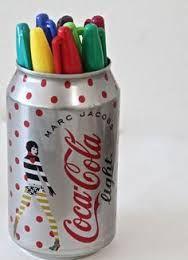 Coca Cola Can Pencil Holders Ways To Recycle, Diy Recycle, Reuse, Soda Can Crafts, Fun Crafts, Cola Dose, Coca Cola, Pots, Diy Cans