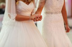 Two brides. Lesbian Wedding, Lesbian Love, Wedding Hands, Two Brides, Romances, Lesbians, Beautiful Bride, Big Day, Real Weddings