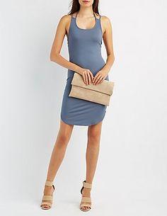 Ribbed Strappy Bodycon Dress #CharlotteLook