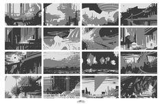 ArtStation - Environment Thumbnails, Erick Altensleben Composition Painting, Composition Design, Concept Art Books, Environment Sketch, Concept Draw, Art Reference, Reference Images, Matte Painting, Environmental Art