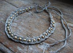 Headband, necklace, bracelet, belt?