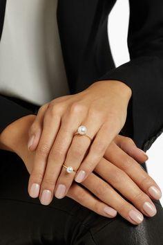 Sophie Bille Brahe Grande 14-karat gold pearl ring