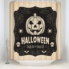 Cloud Dream Vintage Halloween Pumpkin Spider Web Print Shower CurtainWaterproof and Mildewproof Polyester Fabric Bath Curtain Design70x70Inch >>> You can obtain even more details by clicking on the image. (This is an affiliate link). Halloween Shower Curtain, Vintage Halloween, Halloween Pumpkins, Curtains, Spider, Cloud, Fabric, Bath, Link